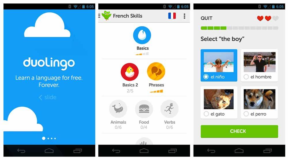 اپلیکیشن اندروید آموزش زبان دولینگو