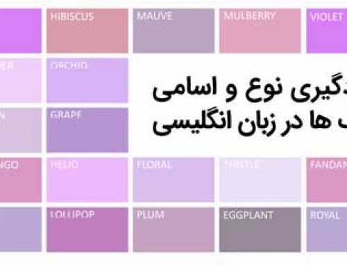 آشنایی با رنگ ها در زبان انگلیسی